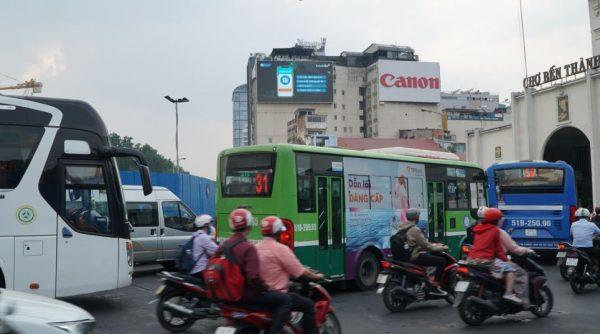 màn hình led chợ bến thành